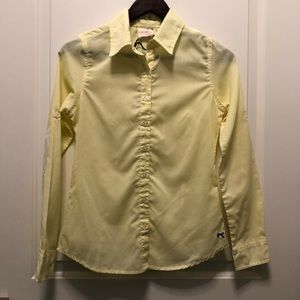 Tommy Girl Yellow White Button Down Shirt S